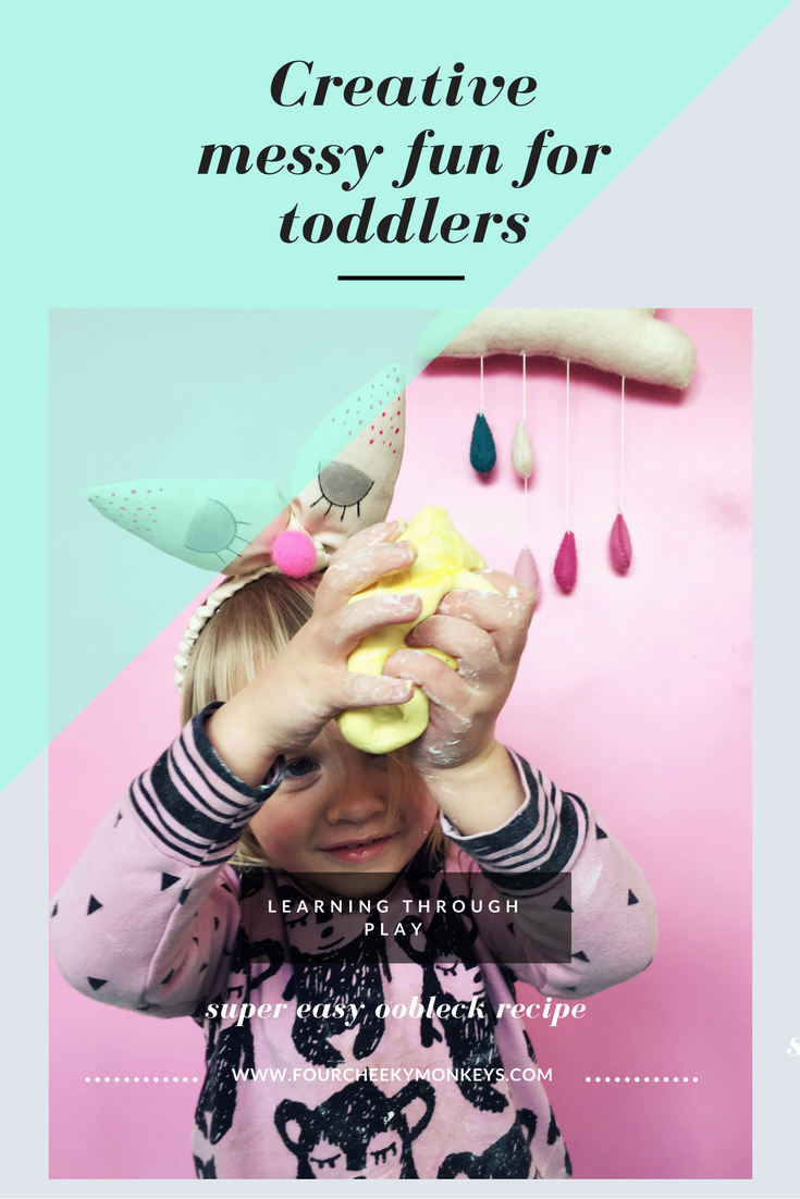 Sensory Play for toddlers - oobleck