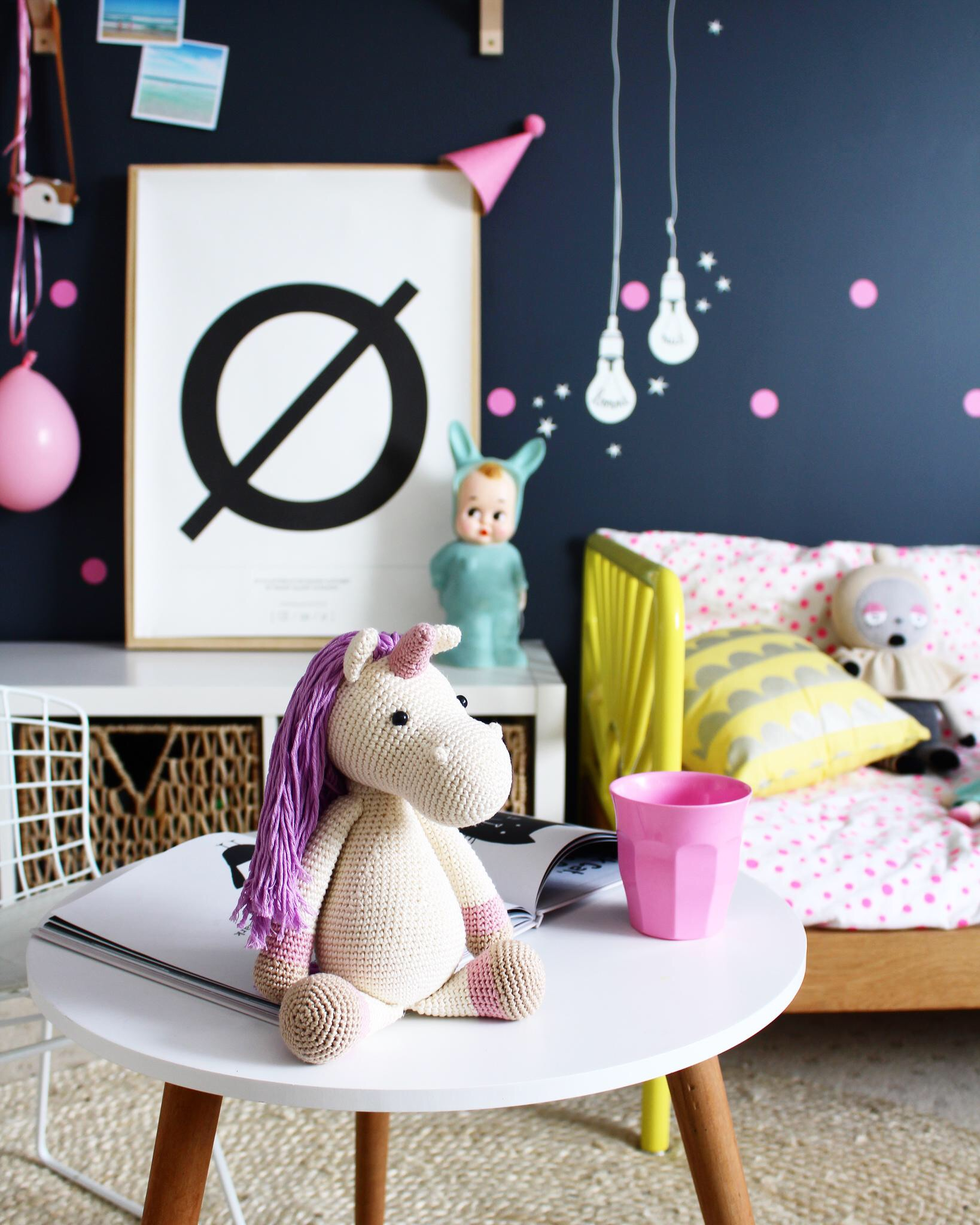 Kids' bedroom ideas - interiors and decor - using MIMI'lou designer decals www.fourcheekymonkeys.com
