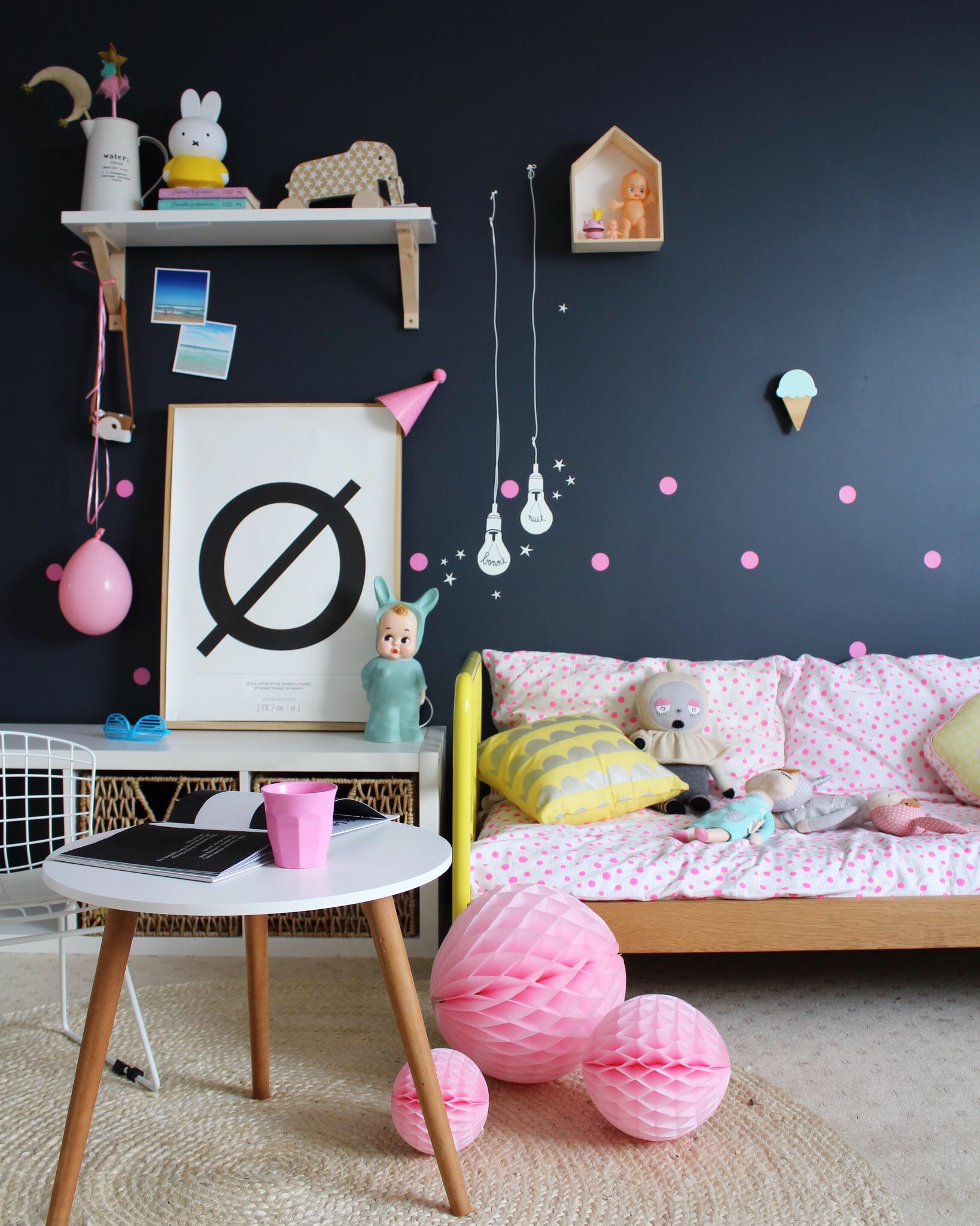 Kids' bedroom Ideas - using MIMI'lou decals www.fourcheekymonkeys.com