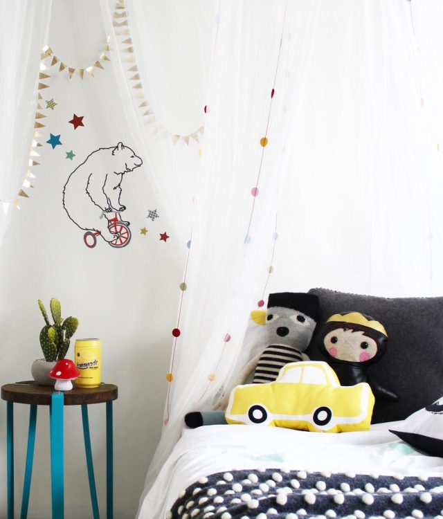 Kids bedroom ideas - children's interior design and decor blog www.fourcheekymonkeys.com Childrens interior design kids decor blog