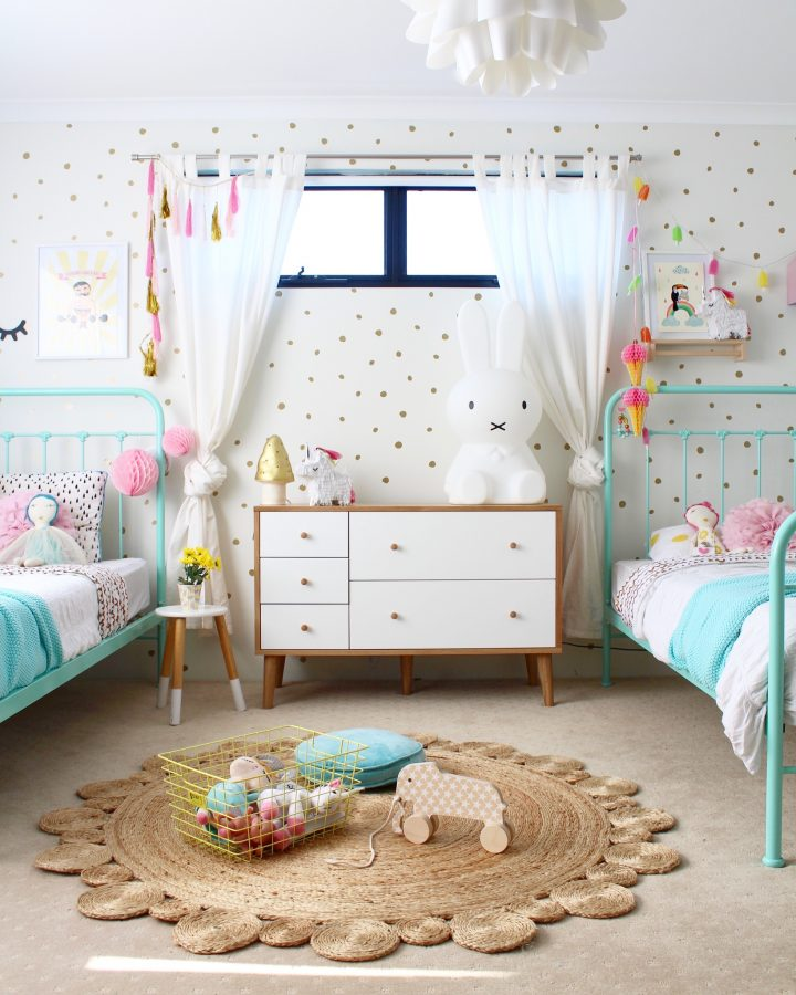 Mini makeover time boho style kids interior design for Children bedroom designs girls