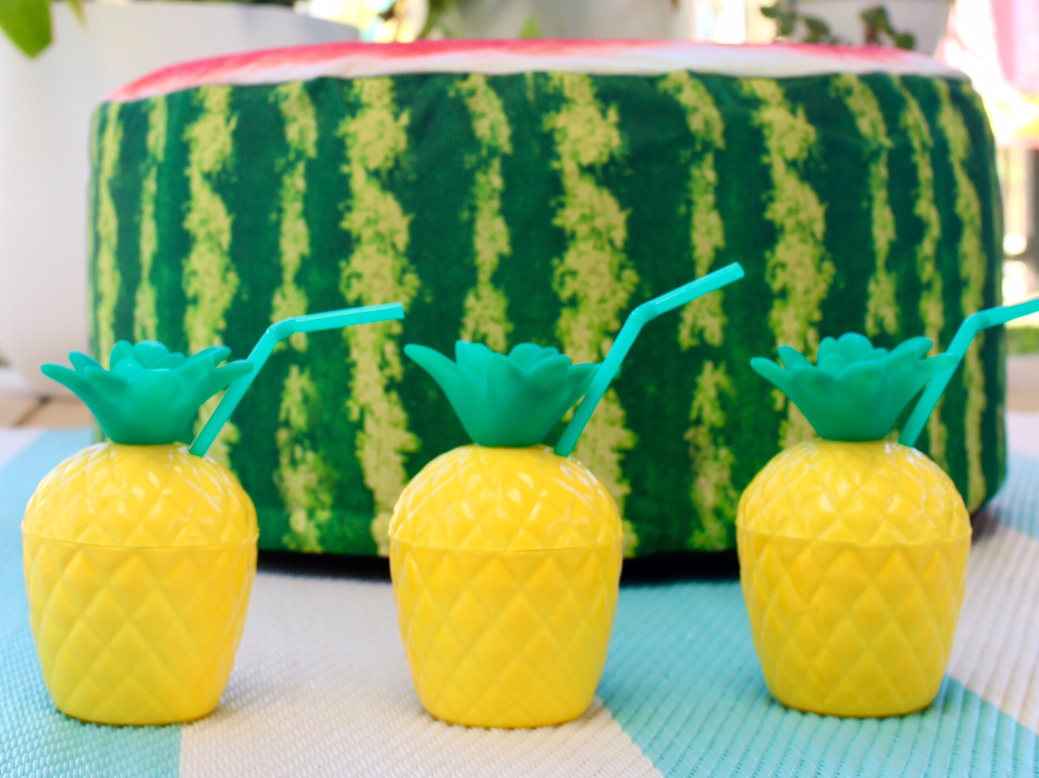 pineapple cups | fun gift ideas www.fourcheekymonkeys.com