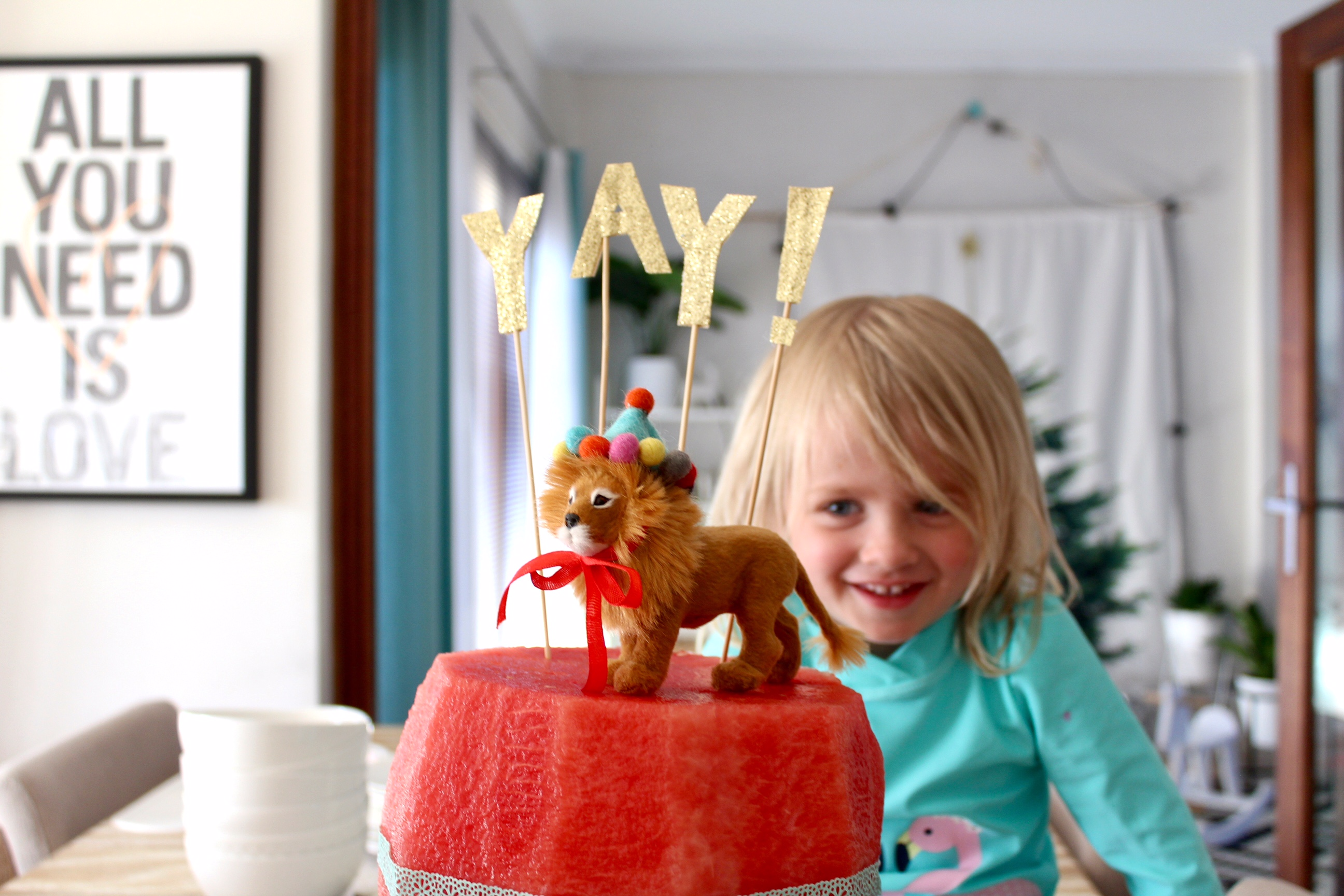 Watermelon birthday cake | kids party ideas