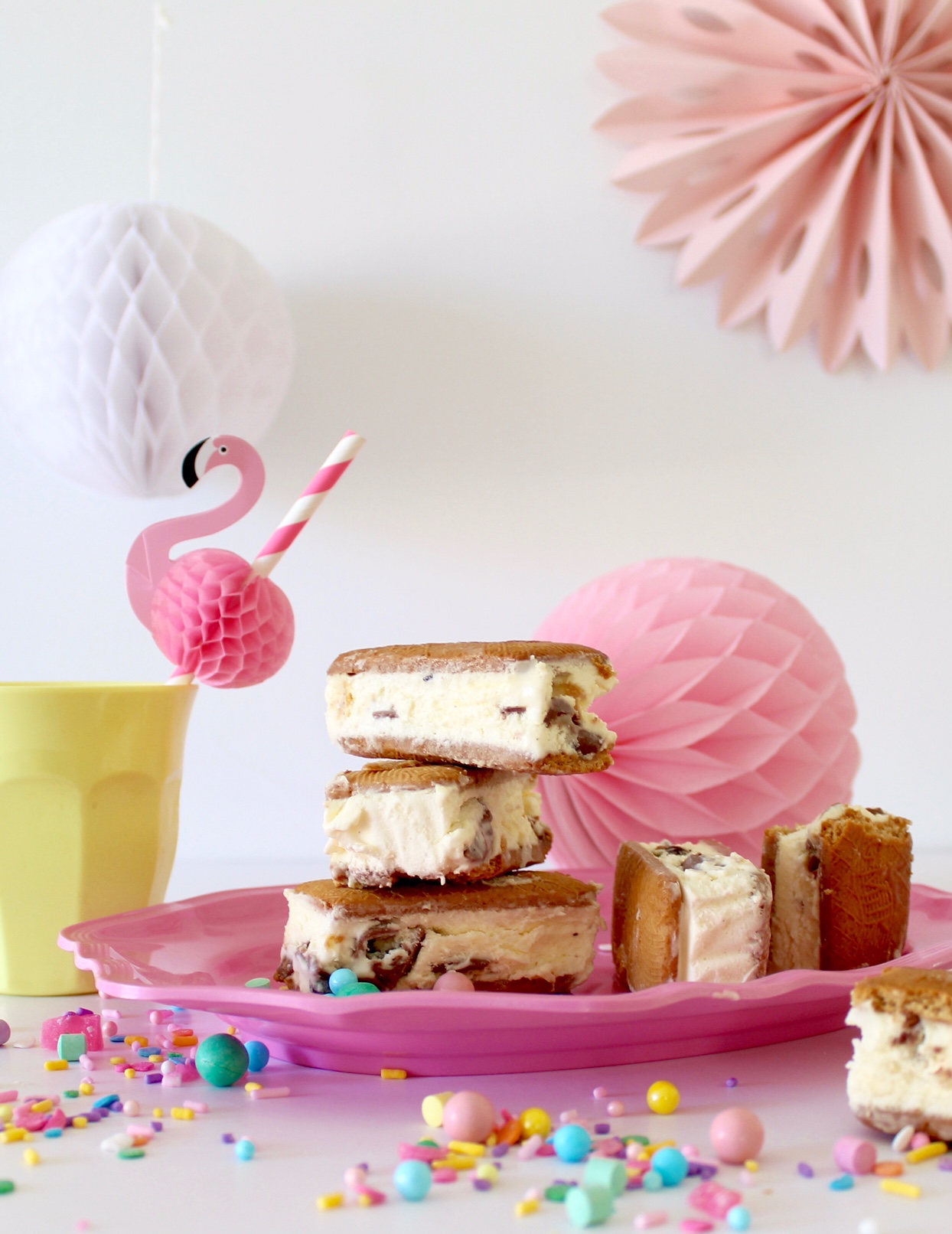 Ice-cream sandwiches recipe