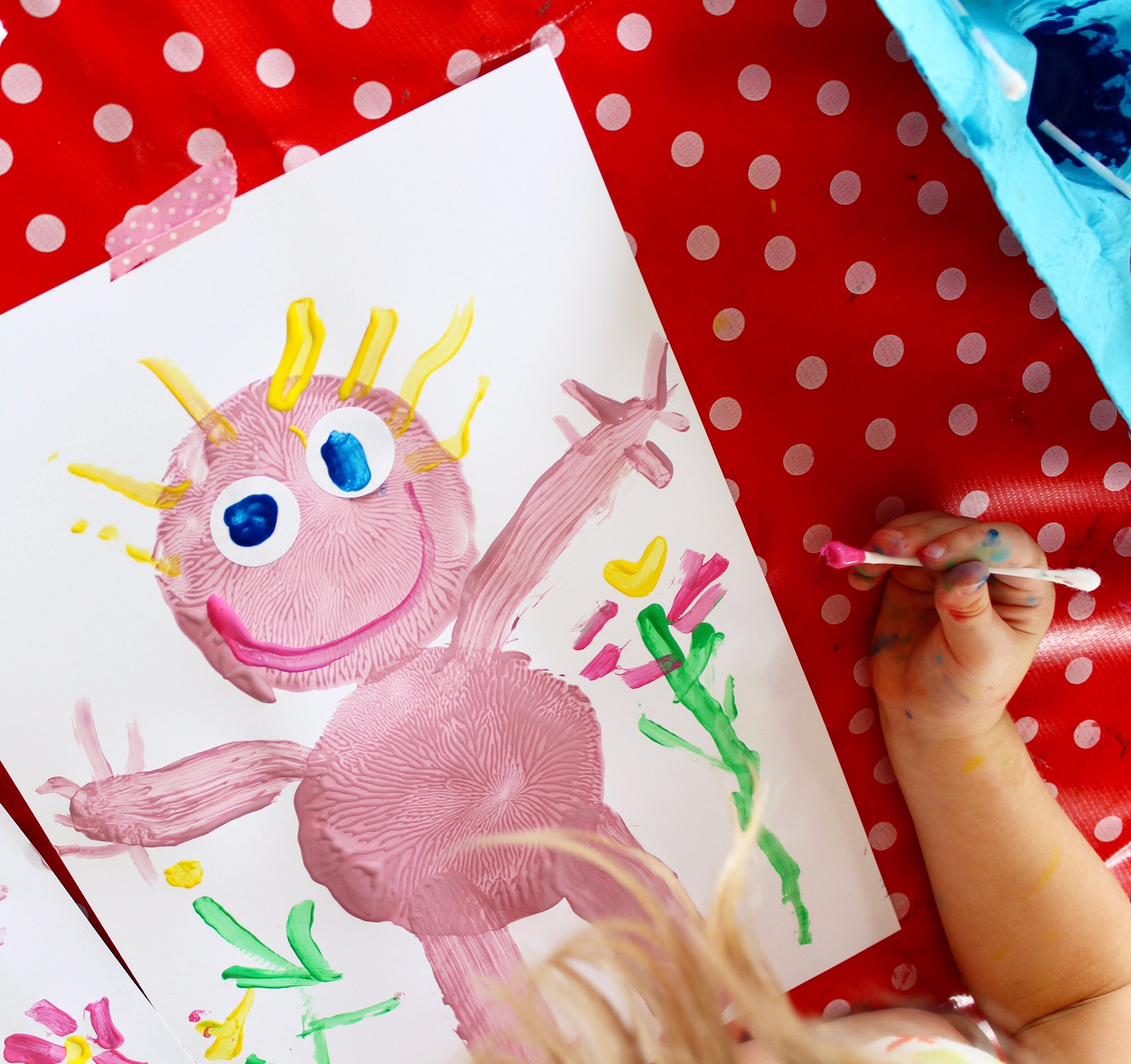 Kids craft activities for toddlers | simple self-portrait painting activity for kids