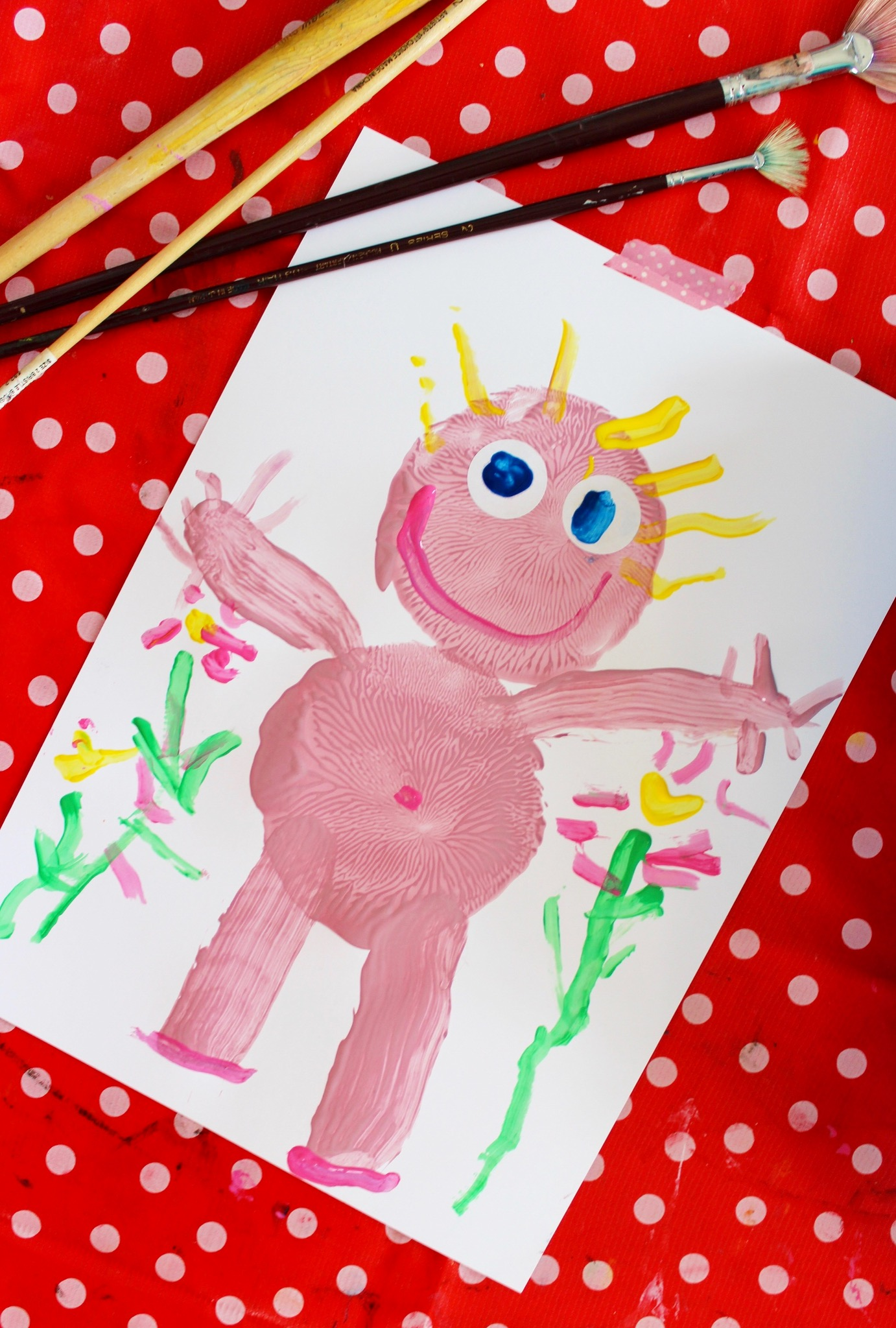 Kids painting activities for toddlers | simple self-portrait painting activity for kids