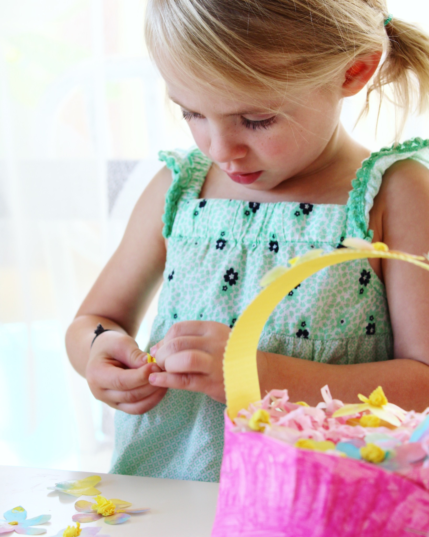 Easter Basket Craft Adorable Paper Plate Easter Basket Activity