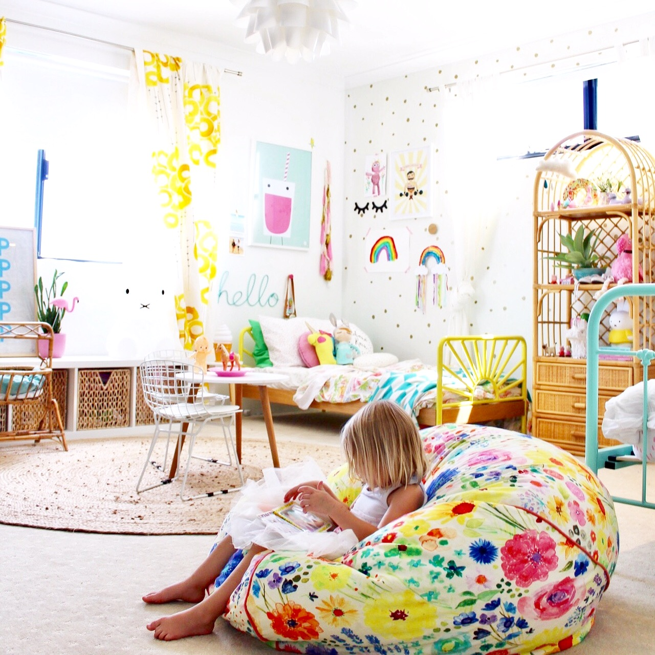 Kids bedroom ideas | girls room | colourful modern boho rooms for kids and toddlers | more on the blog