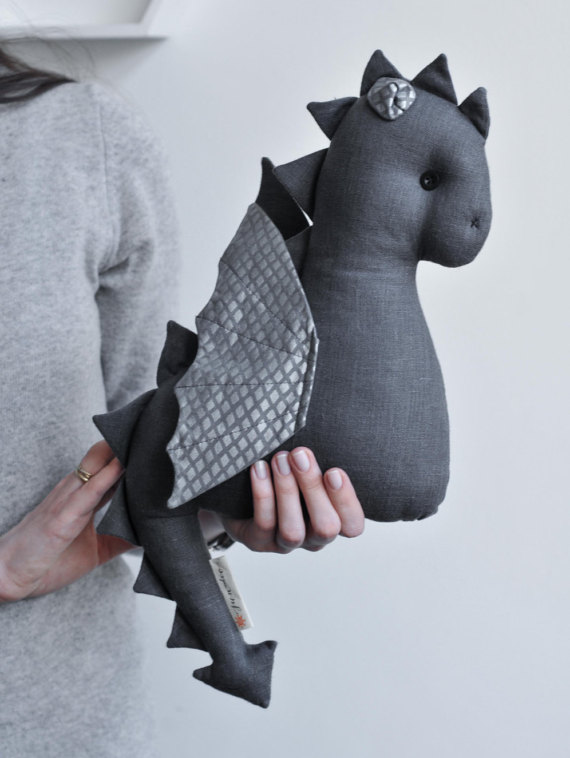 Handmade Dragon Plush Toy – by Sun and Co more on the blog