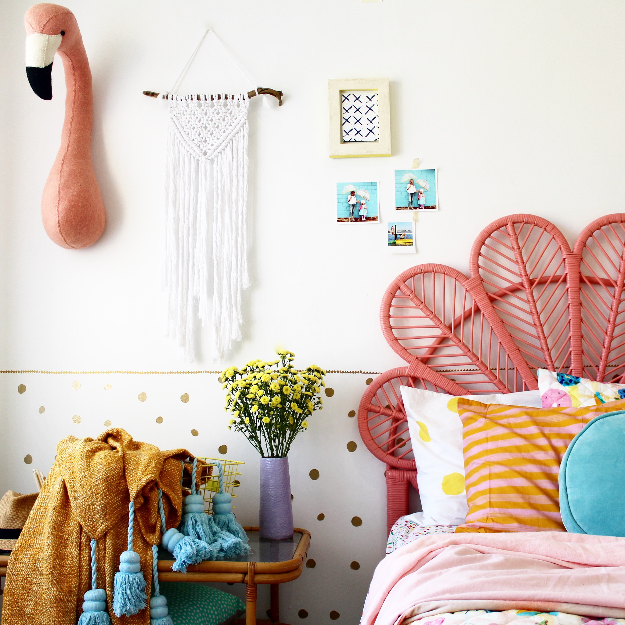 Girls bedroom ideas |kids bedding and decor | modern boho bedroom ideas on the blog