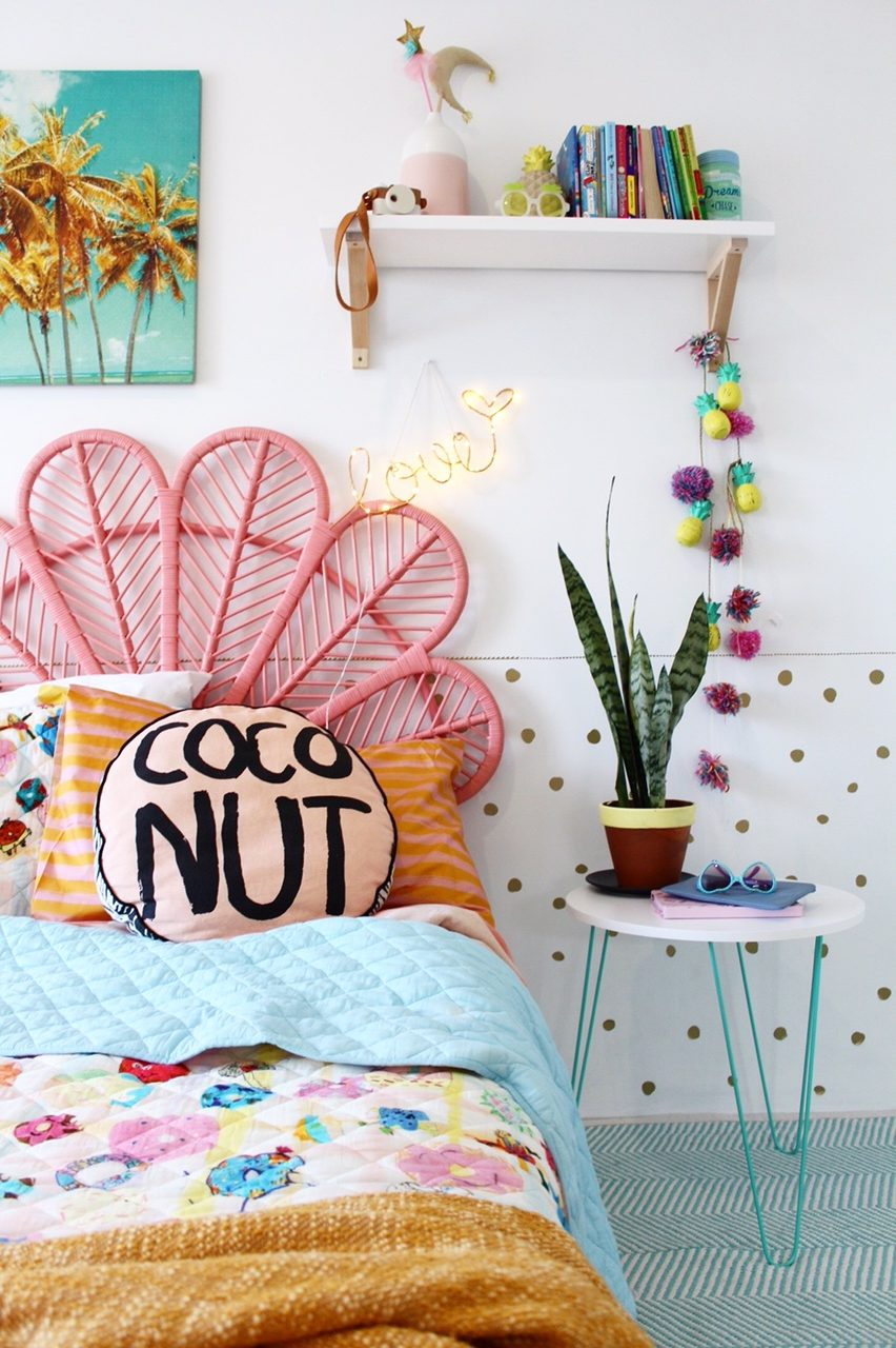 Boho kids bedroom ideas for girls | more on the blog
