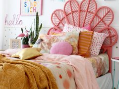 modern boho bedroom ideas- colour crush with kip and co. More on the blog. www.fourcheekymonkeys.com