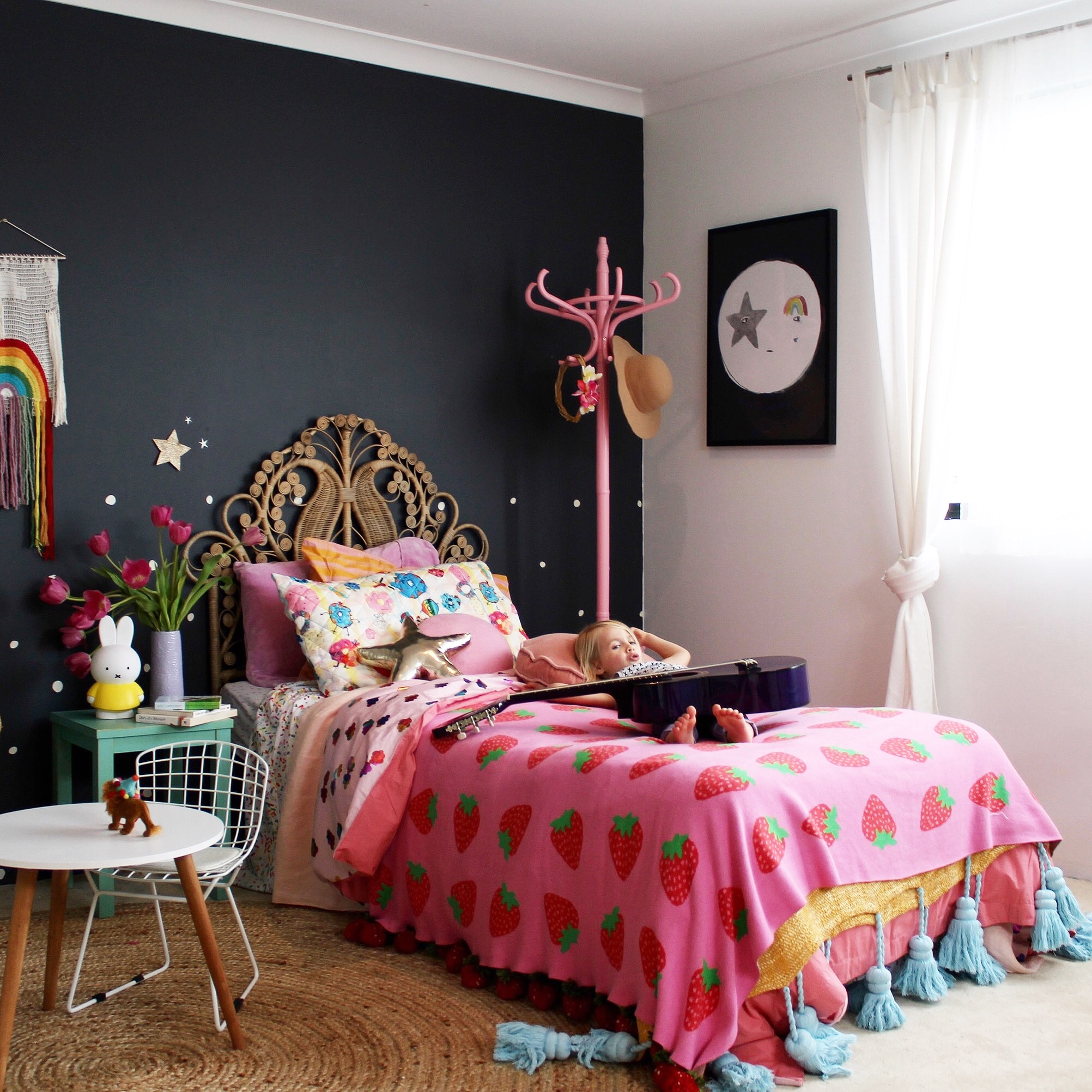 girls bedroom ideas - cool boho for kids Love this look!