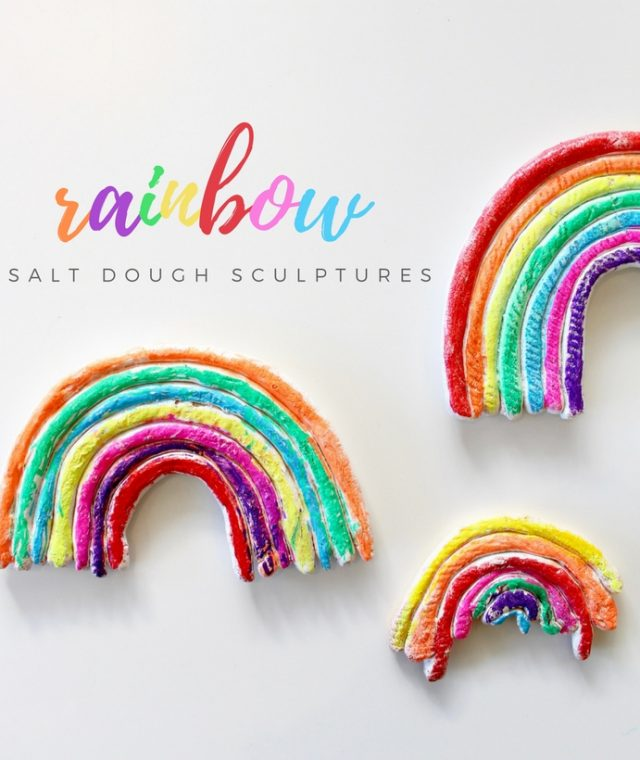 rainbow process art for kids |salt dough sculptures