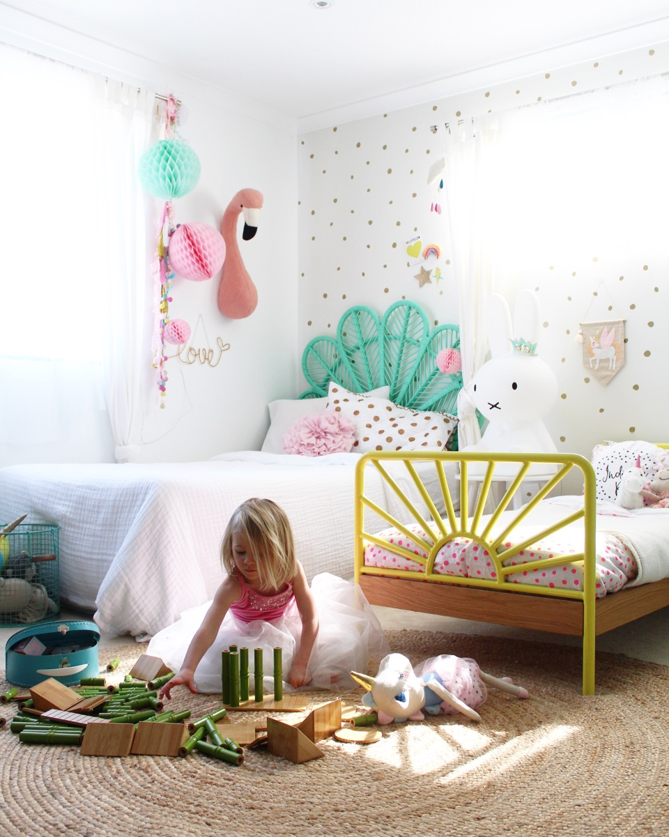 Kids bedroom ideas – my girls shared bedroom, more on the blog