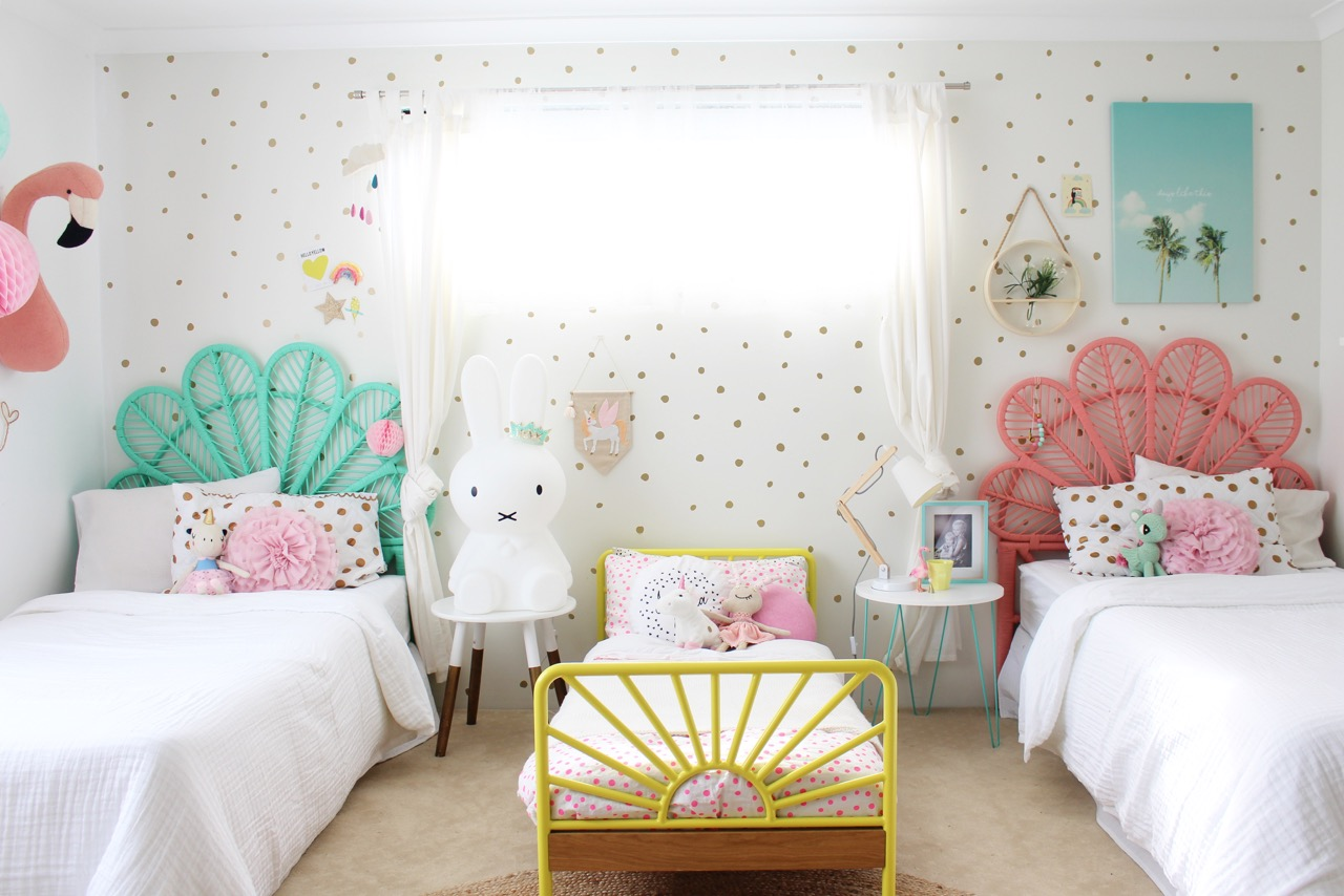Girls bedroom ideas my girls shared bedroom tour for 3 bedroom design