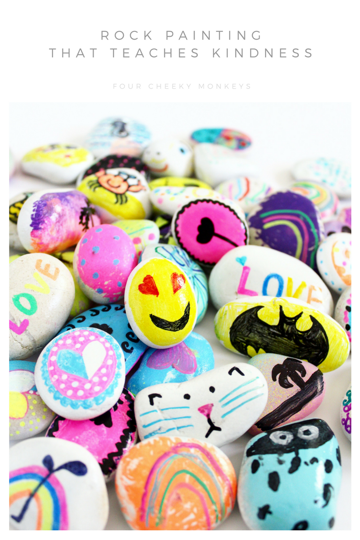Painted rock ideas for kids to teach kindness