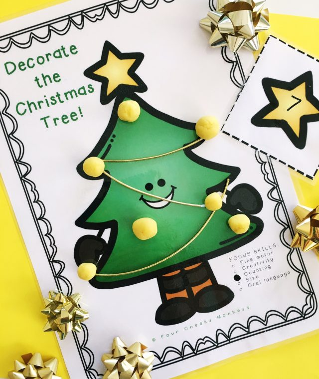 Christmas tree activity for kids | counting | fun ideas for toddlers and kindy