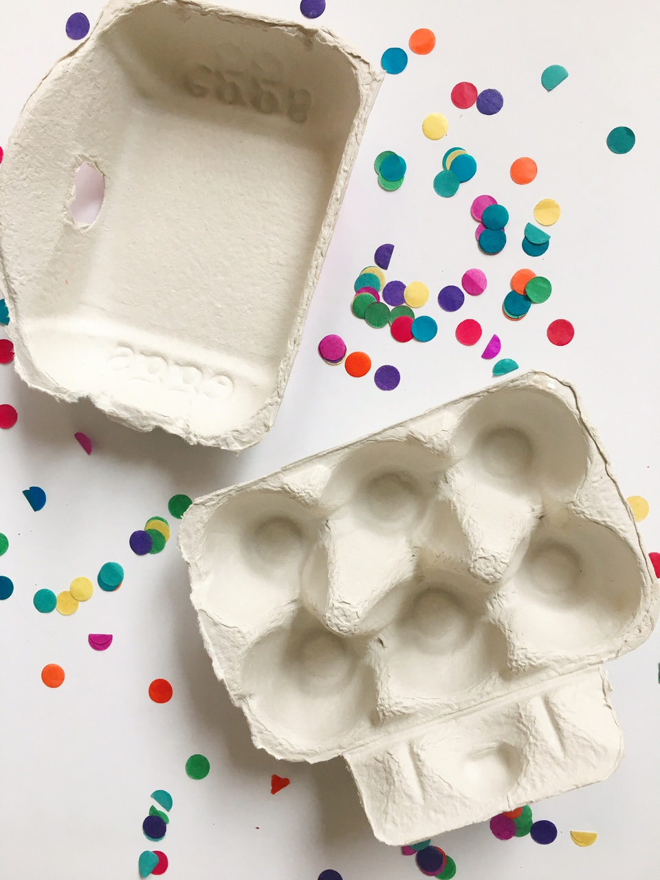 spring craft activities for kids – egg carton flowers