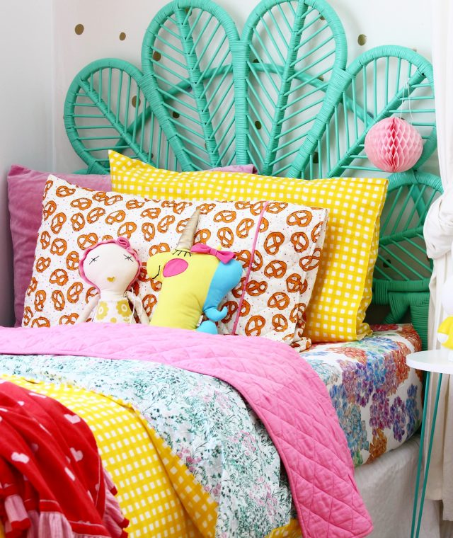 kids bedroom ideas | rainbow room decor for girls, more on the blog