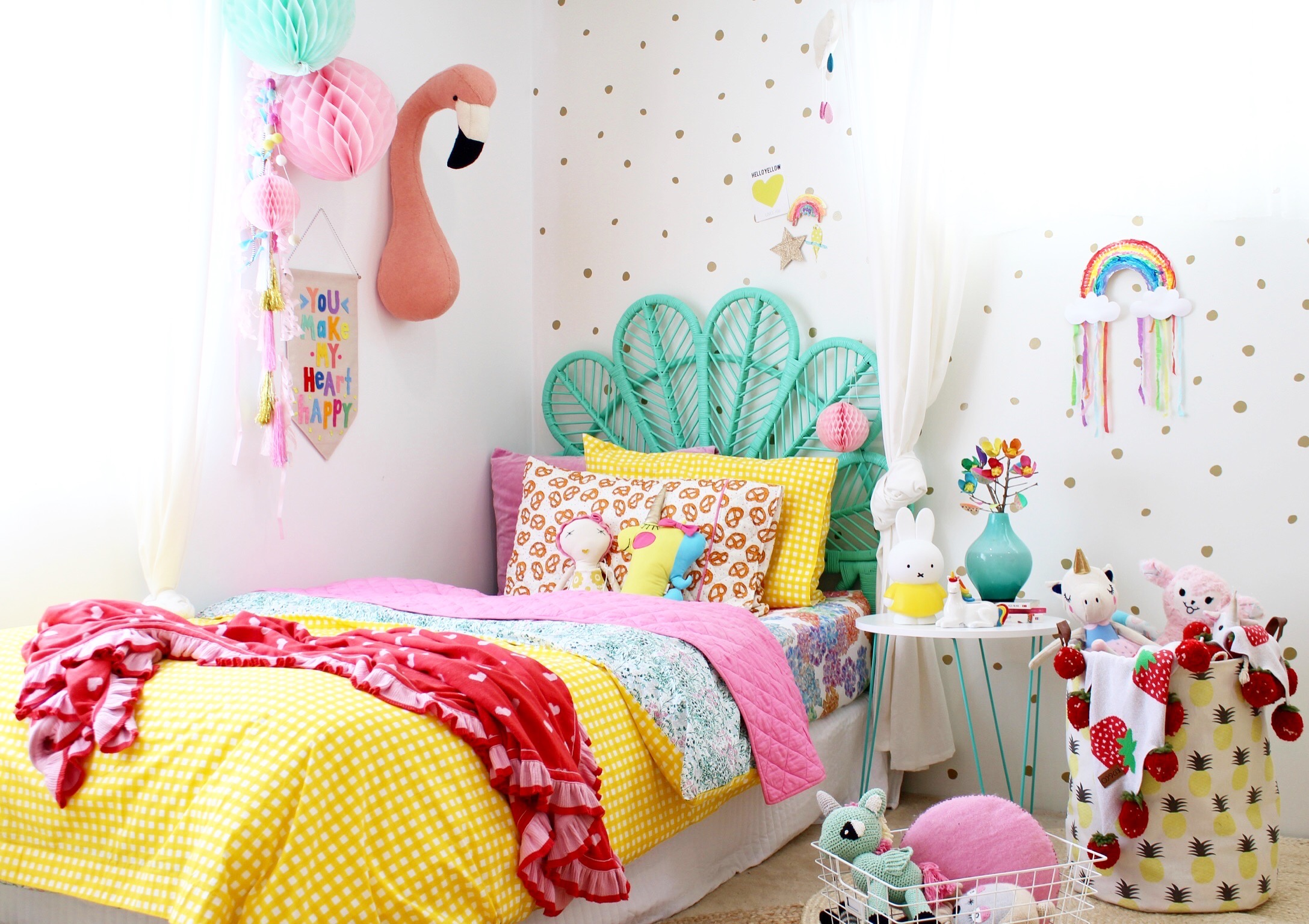 Kids bedroom ideas rainbow retreat four cheeky monkeys for Rainbow kids room